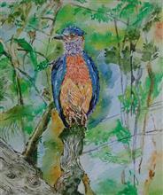 Bird's Eye View, Painting by Rakhi Chatterjee