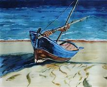 Ready to Sail, painting by Rakhi Chatterjee
