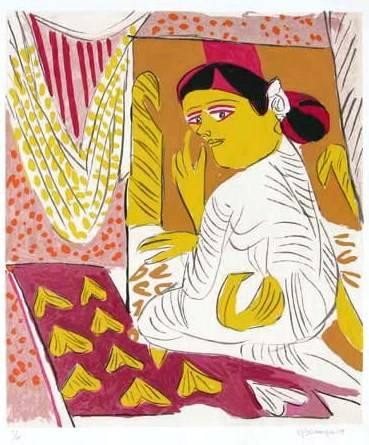 Untitled IX, print by K. G. Subramanyan