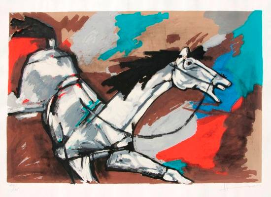 limited edition print by M.F.Hussain