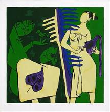 M F Husain - In stock print