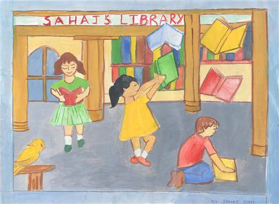 painting by Sahaj Sohi - Library