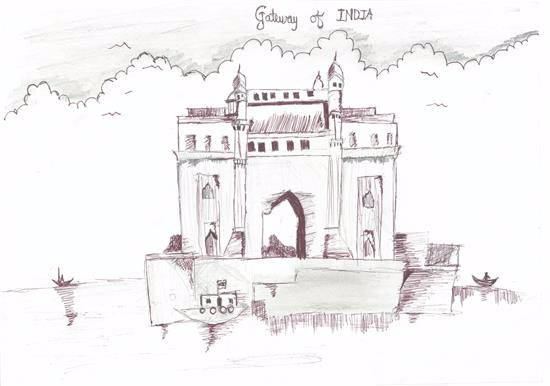 Painting  by Saheem Sameer Nakhwa - Gate way India