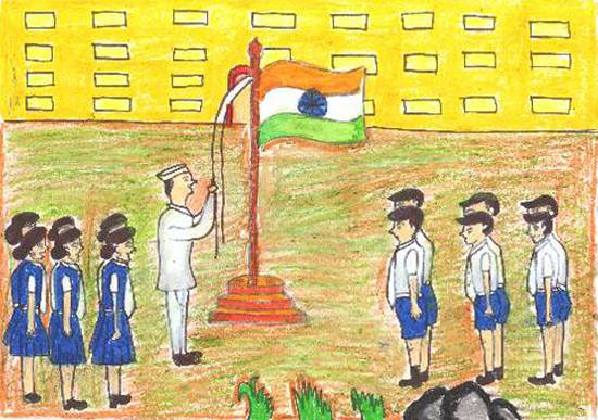 Painting  by Sahil Yashwant Chavan - Republic day