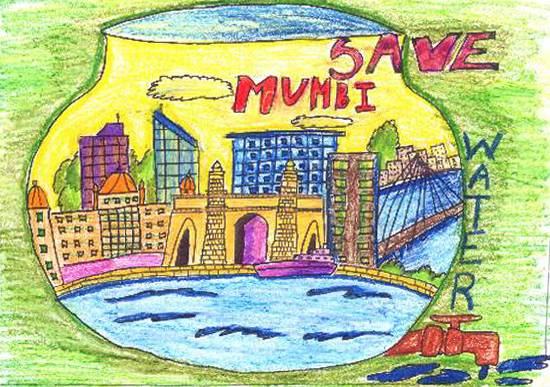 Painting  by Sahil Yashwant Chavan - Save Mumbai