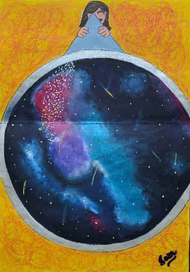 Painting  by Sameeksha Sanjoy Sarkar - Night sky