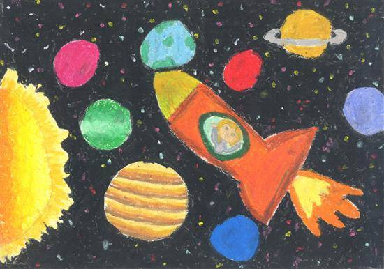 Painting  by Samruddhi Prashant Mullerpatan - Outer space