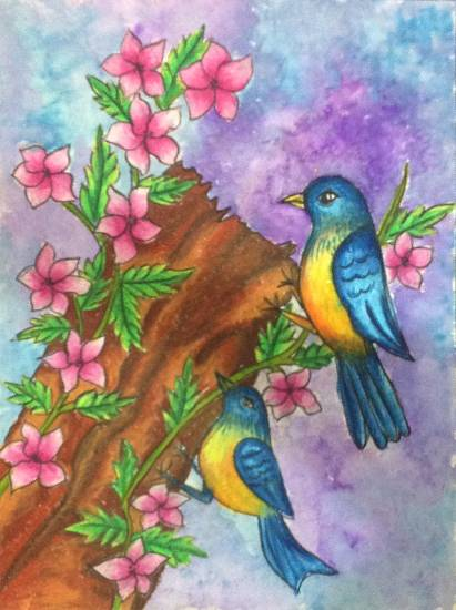 Painting  by Sanjana Agarwal - Birds
