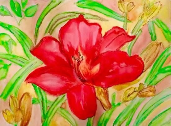 Painting  by Sanjna Purandar Das - Flower - 1