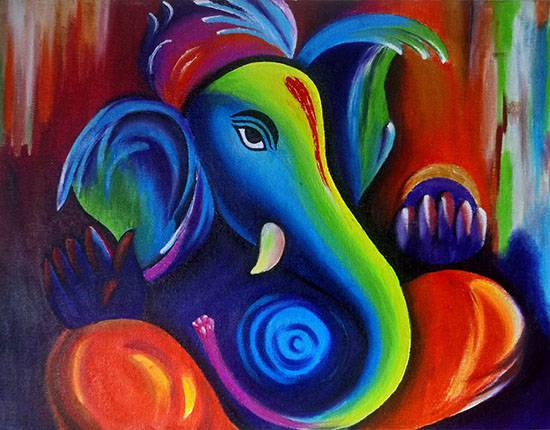 Ekdant , painting by Ratnamala Indulkar