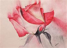 Red Rose, painting by Ratnamala Indulkar