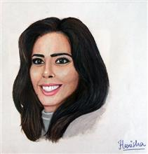Painting  by Harisha Jangid - Me and My selfie