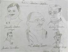 Painting  by Lakhshya Lakhotia - Our Freedom fighters