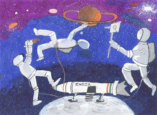 Painting  by Shreyans Sachin Shah - Outer space