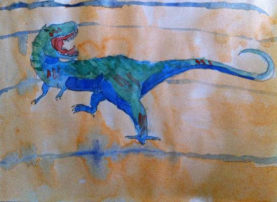 Painting  by Siddharth Basuray - Dinosaur - 4