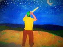 Painting  by Soumyashis Debashis Sarkar - Starry sky