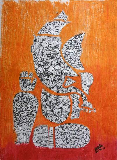 Painting  by Sristi Sudip Banerjee - Lord Ganesha