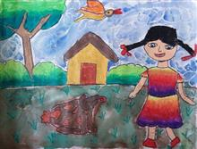Painting  by Akshara Shah - Girl