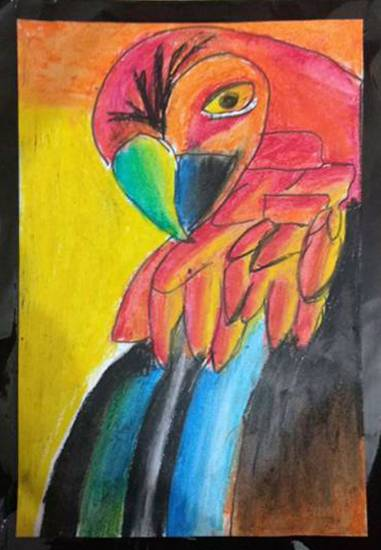 Painting  by Ankit Basak - Wild Bird
