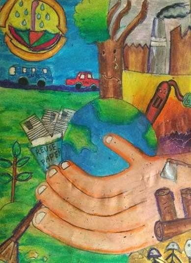Painting  by Aryan Mehta - Save the Earth