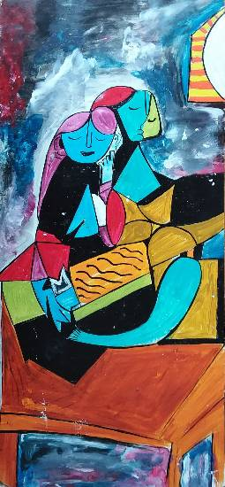 painting by Indrani Ghosh - The recreating Picasso art