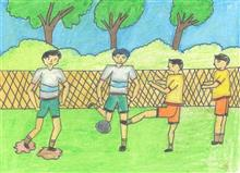 Painting  by Suveer Kartik Upasani - Football