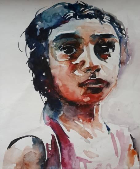 A girl, painting by Vibhuti Pravin Tharali