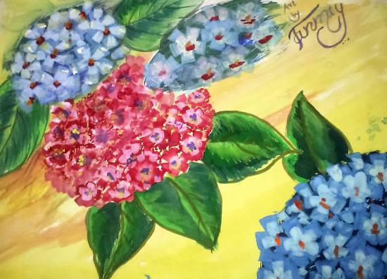 Painting  by Tanmay Sameer Karve - Flowers