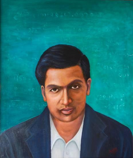 Ramanujan, print by Gouri Ambika