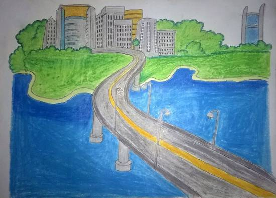 City, painting by Vedant Satish Koli