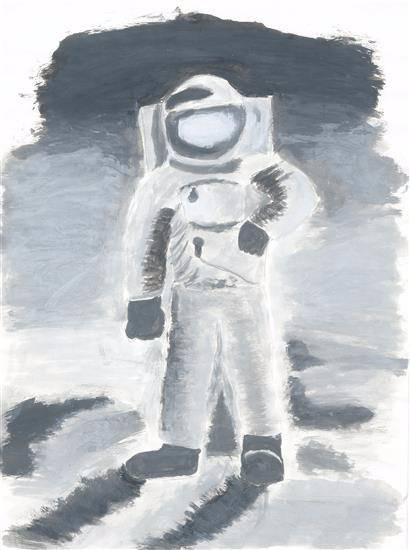 painting by Vedant Satish Koli - Astronaut