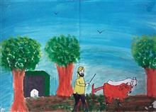 Painting  by Gurkamal Singh - Farmer