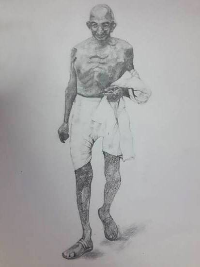 Painting  by Vignesh S - Mahatma Gandhi