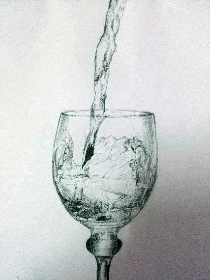 Painting  by Vignesh S - Glass of water