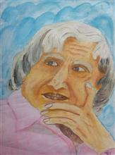 Painting  by Tejwinder Singh - Dr A P J Abdul Kalam