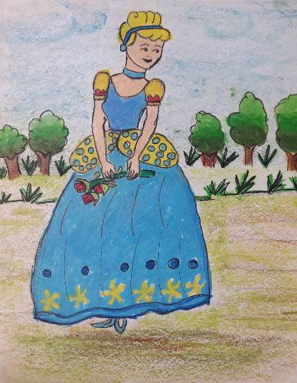 Painting  by Aastha Mahesh Surve - Cinderella - The fantasy