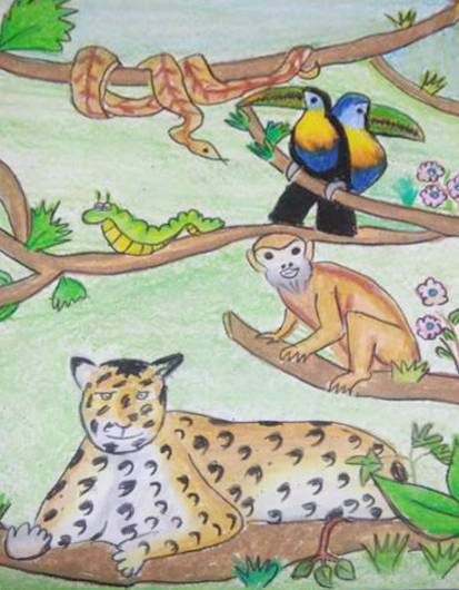 Painting  by Aastha Mahesh Surve - Forest life