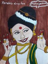Painting  by Aastha Mahesh Surve - Dance form of Kerala