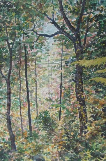 Indiaart - Forest Artwork