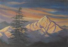 Painting by H C Rai - Magnificent Himalayas