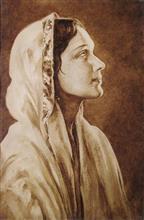 Devika Rani, Painting by H. C. Rai