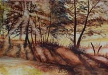 Sunrays, painting by Swasti Verma