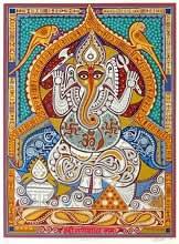 Shree Ganeshay Namah, print by Jyoti Bhatt