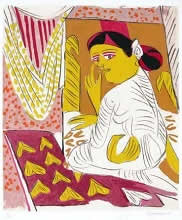 Untitled IX, print by K. G. Subramanyan