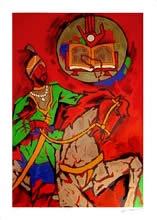 Theorama - Sikhism, print by M. F. Husain