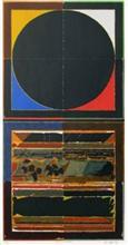 Bindu and Earth, print by S. H. Raza