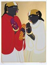 Panditas, print by Thota Vaikuntam