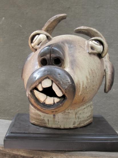 Cow Head, Sculpture by Pratima Vaidya