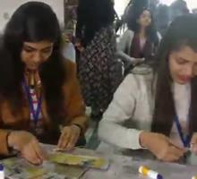 Art of Recycling, workshop by Gauri Ketkar - Part 6 (at Jaipur Art Summit 2017)