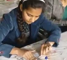 Art of Recycling, workshop by Gauri Ketkar - Part 8 (at Jaipur Art Summit 2017)